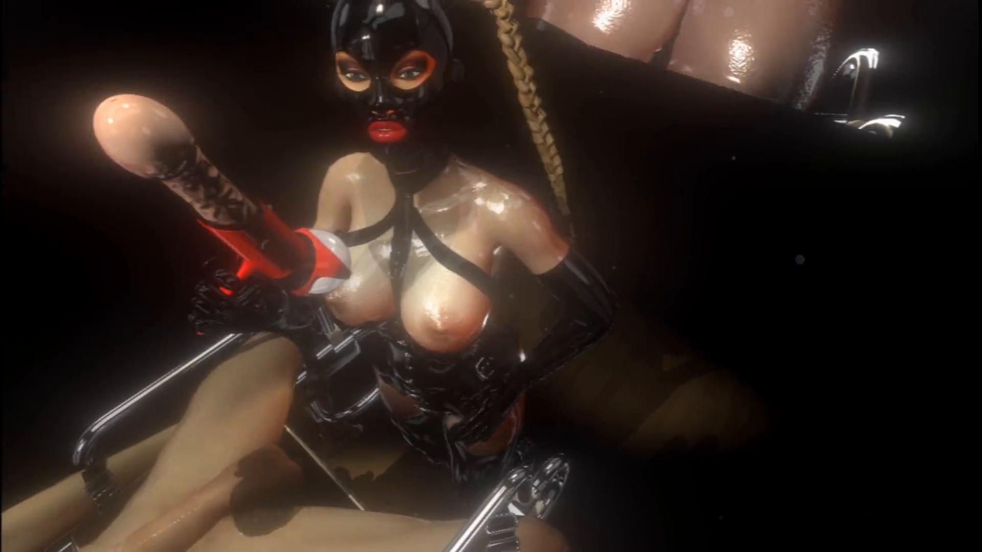 Big tits mistress dildo gun vr sex game